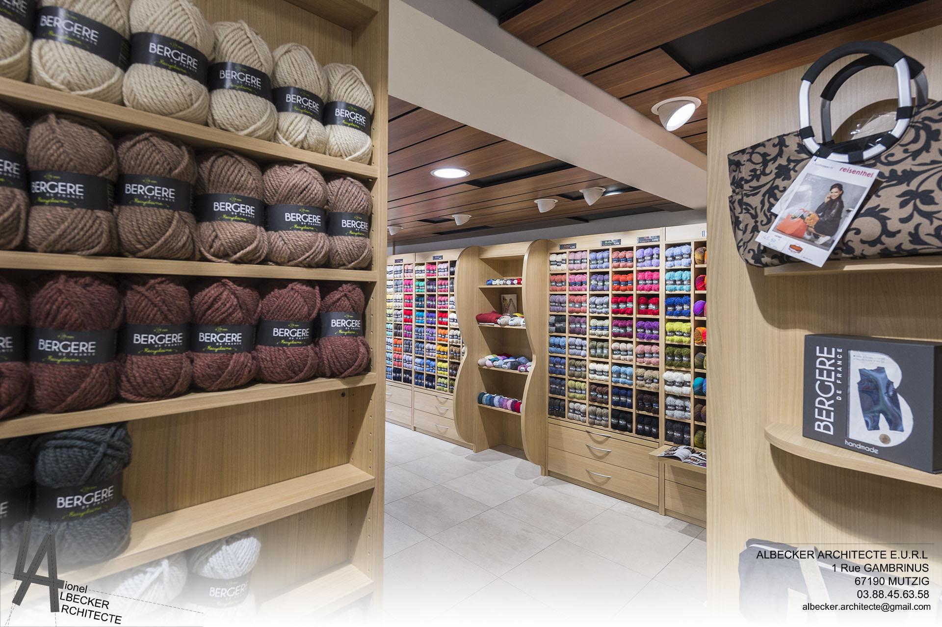 boutique l magasin de laine albecker architecte. Black Bedroom Furniture Sets. Home Design Ideas