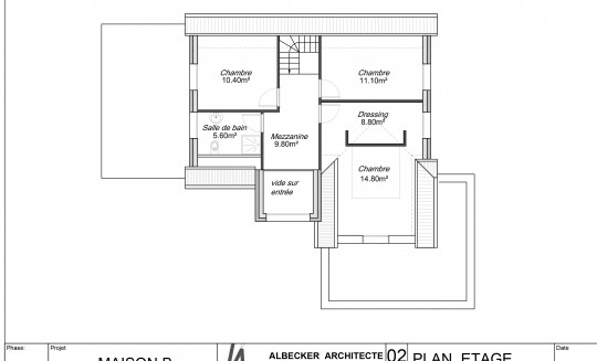 Maison b albecker architecte - Plan maison sud ouest ...