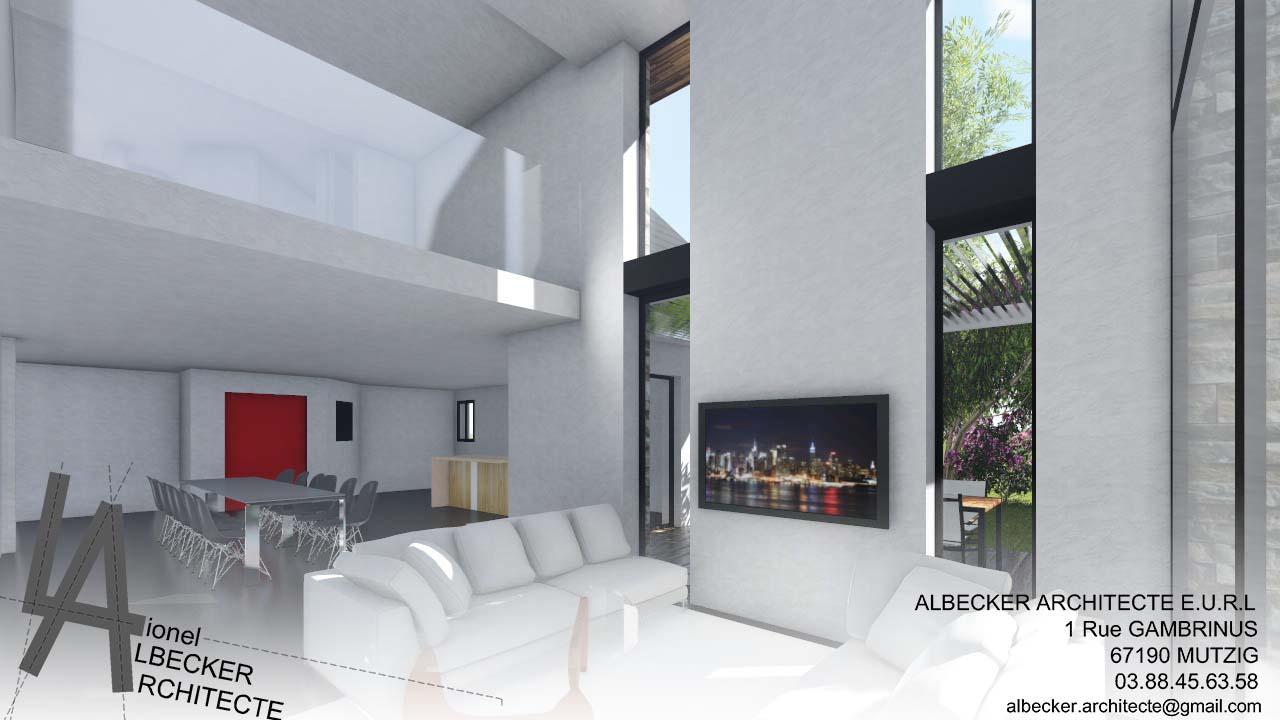 extension contemporaine d une maison individuelle dachstein albecker architecte. Black Bedroom Furniture Sets. Home Design Ideas