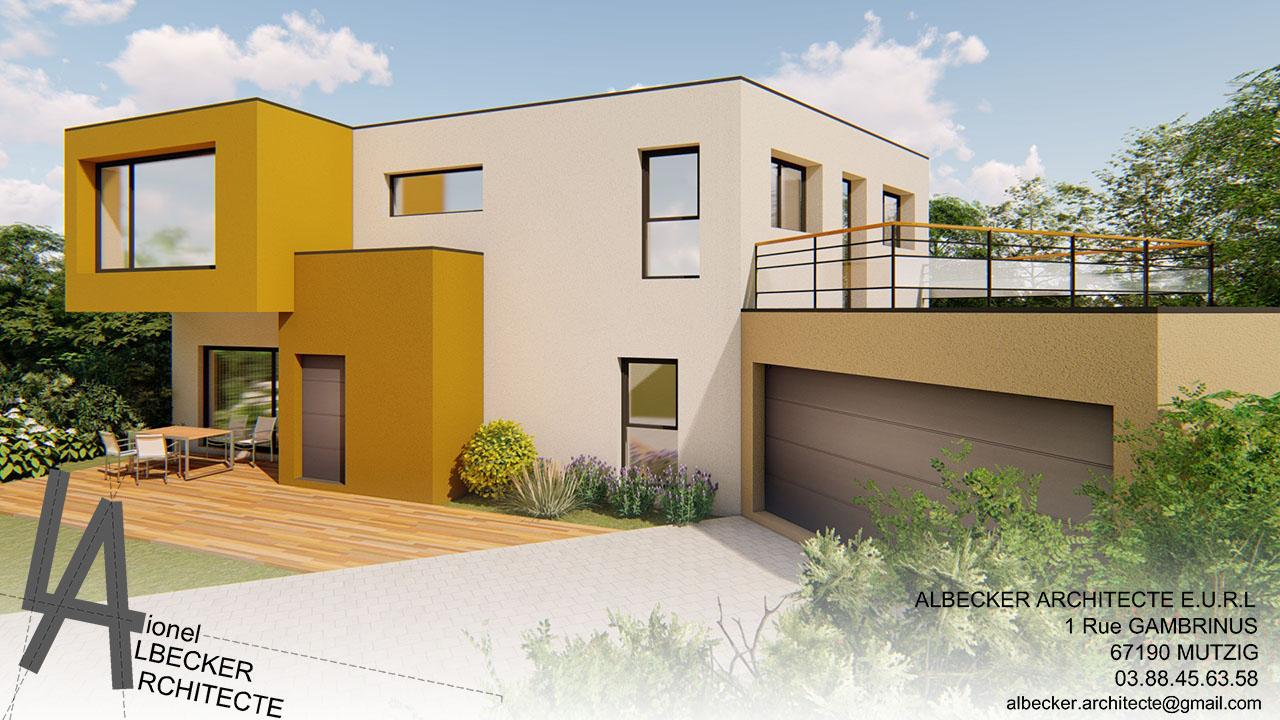 Architecte Bas Rhin maison y à mutzig – albecker architecte à mutzig en alsace